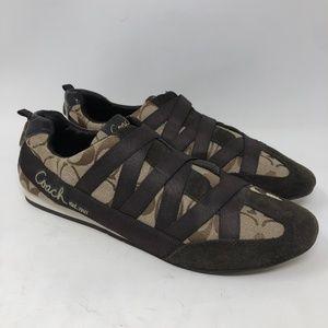 Coach Brown Harmonie C Monogram Shoes 10